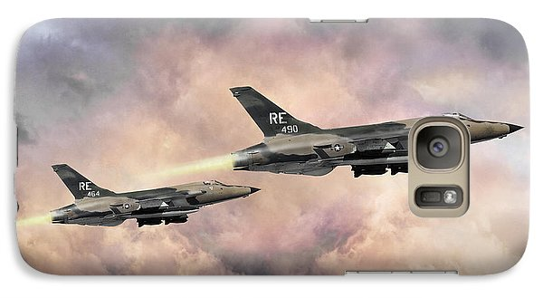 Galaxy Case featuring the digital art F-105 Thunderchief by Peter Chilelli