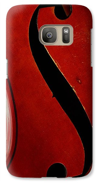 Galaxy Case featuring the photograph F Hole by Chris Berry
