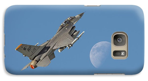 Galaxy Case featuring the photograph F16 - Aiming High by Pat Speirs