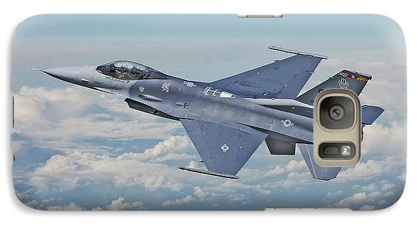 Galaxy Case featuring the digital art F16 - Fighting Falcon by Pat Speirs