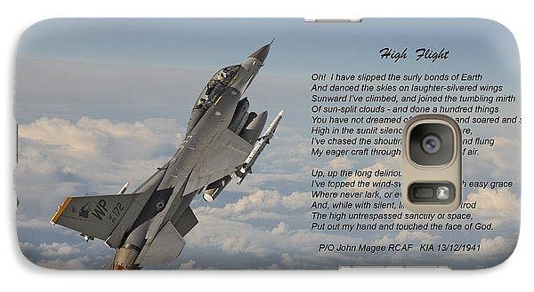 F16 - High Flight Galaxy S7 Case