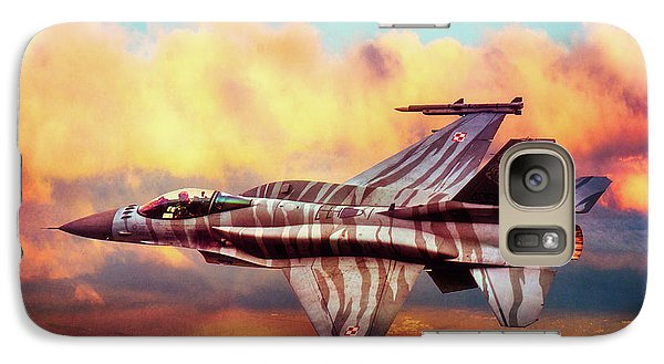 Galaxy Case featuring the photograph F16c Fighting Falcon by Chris Lord