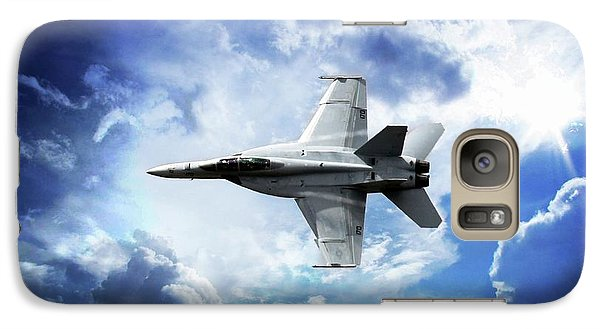 Galaxy Case featuring the photograph F18 Fighter Jet by Aaron Berg