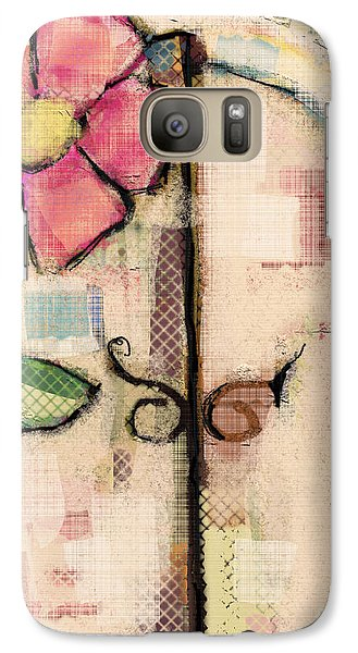 Galaxy Case featuring the mixed media Fabric Fairy Door by Carrie Joy Byrnes