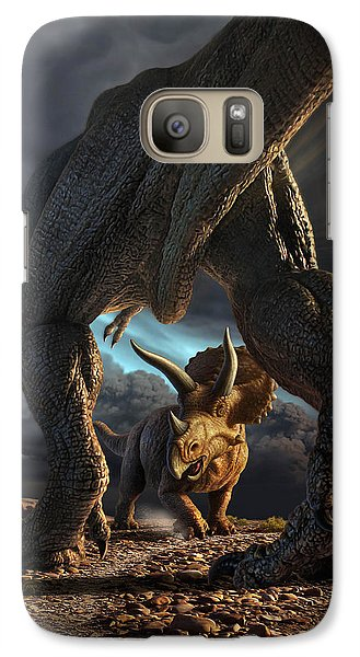 Extinct And Mythical Galaxy S7 Case - Face Off by Jerry LoFaro