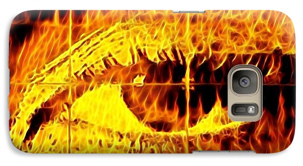 Galaxy S7 Case - Face The Fire by Gina Callaghan