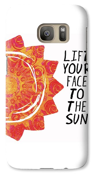 Galaxy Case featuring the painting Face To The Sun by Lisa Weedn