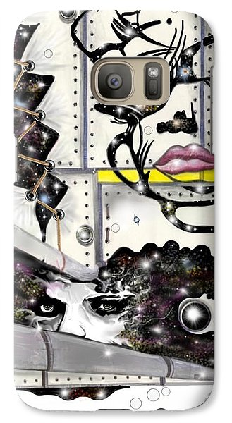 Galaxy Case featuring the digital art Faces In Space by Darren Cannell