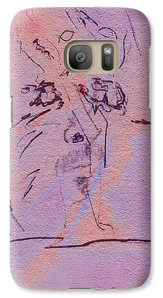 Galaxy Case featuring the mixed media Faces Of Trivia by Steve Karol