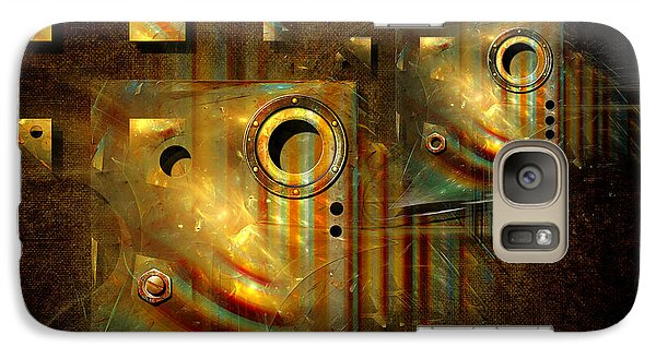 Galaxy Case featuring the digital art Factory Atmosphere by Alexa Szlavics