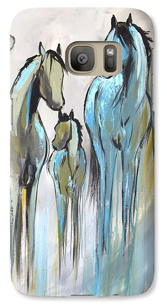 Galaxy Case featuring the painting Fading 2 by Cher Devereaux