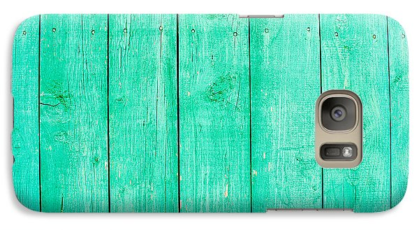 Galaxy Case featuring the photograph Fading Aqua Paint On Wood by John Williams