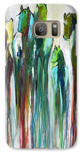 Galaxy Case featuring the painting Fading Souls by Cher Devereaux