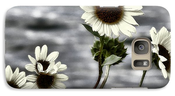 Galaxy Case featuring the photograph Fading Sunflowers by Susan Kinney