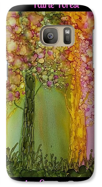 Galaxy Case featuring the painting Fairie Forest by Suzanne Canner