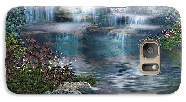 Galaxy Case featuring the digital art Fairies Hidden Lake by Digital Art Cafe