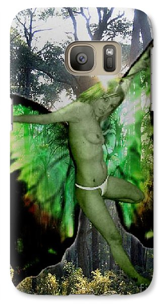 Galaxy Case featuring the painting Fairy Nymph by Tbone Oliver