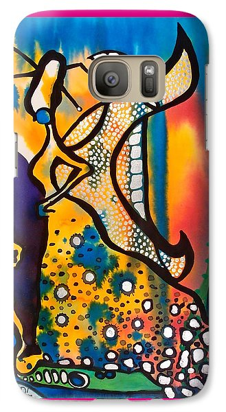 Galaxy Case featuring the painting Fairy Queen - Art By Dora Hathazi Mendes by Dora Hathazi Mendes