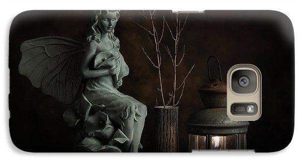 Fairy Galaxy S7 Case - Fairy With Lilies by Tom Mc Nemar