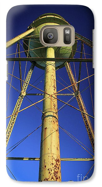 Galaxy Case featuring the photograph Faithful Mary Leila Cotton Mill Water Tower Art by Reid Callaway