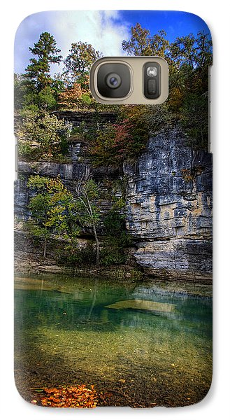 Galaxy Case featuring the photograph Fall Bluff At Ozark Campground by Michael Dougherty