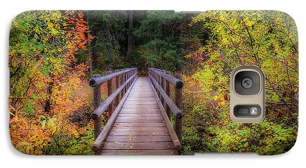 Galaxy Case featuring the photograph Fall Bridge by Cat Connor