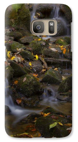 Galaxy Case featuring the photograph Fall Cascades by Ellen Heaverlo