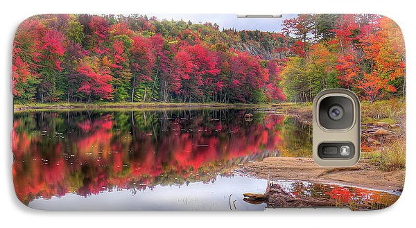 Galaxy Case featuring the photograph Fall Color At The Pond by David Patterson