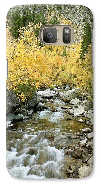Galaxy Case featuring the photograph Fall Colors And Rushing Stream - Eastern Sierra California by Ram Vasudev