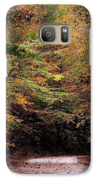 Galaxy Case featuring the photograph Fall Colors On The Trail by Shelby Young