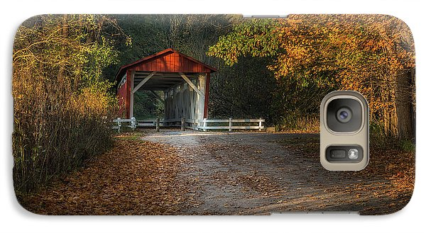 Galaxy Case featuring the photograph Fall Covered Bridge by Dale Kincaid
