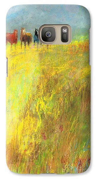 Galaxy Case featuring the painting Fall Day On The Mesa by Frances Marino
