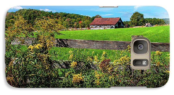 Galaxy Case featuring the photograph Fall Farm by Rebecca Hiatt