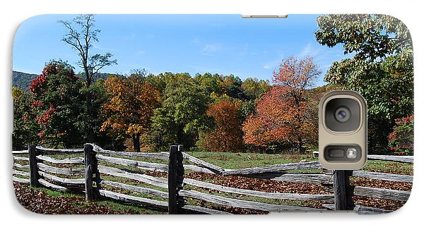 Galaxy Case featuring the photograph Fall Fence by Eric Liller
