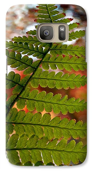Galaxy Case featuring the photograph Fall Fern by Gwyn Newcombe