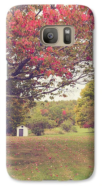 Fall Foliage And Old New England Shed Galaxy S7 Case by Edward Fielding
