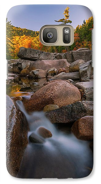 Galaxy Case featuring the photograph Fall Foliage In New Hampshire Swift River by Ranjay Mitra