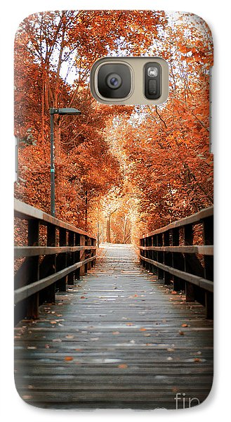 Galaxy Case featuring the photograph Fall Foliage In The Heart Of Berlin by Ivy Ho