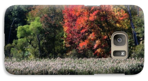 Galaxy Case featuring the photograph Fall Foliage Marsh by Smilin Eyes  Treasures