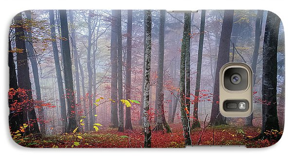 Galaxy Case featuring the photograph Fall Forest In Fog by Elena Elisseeva
