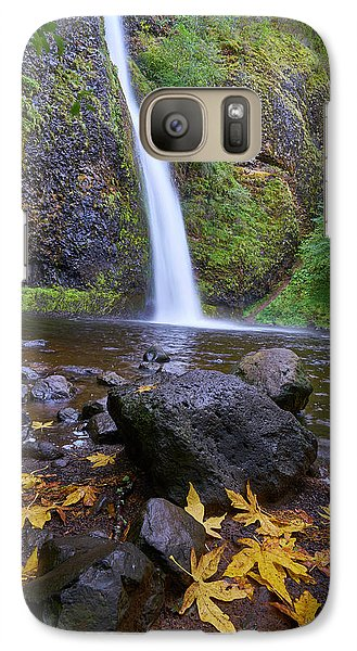 Galaxy Case featuring the photograph Fall Gorge by Jonathan Davison