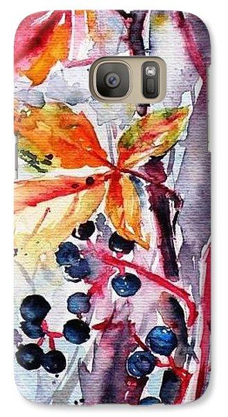 Galaxy Case featuring the painting Fall II by Kovacs Anna Brigitta