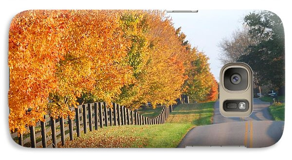 Galaxy Case featuring the photograph Fall In Horse Farm Country by Sumoflam Photography