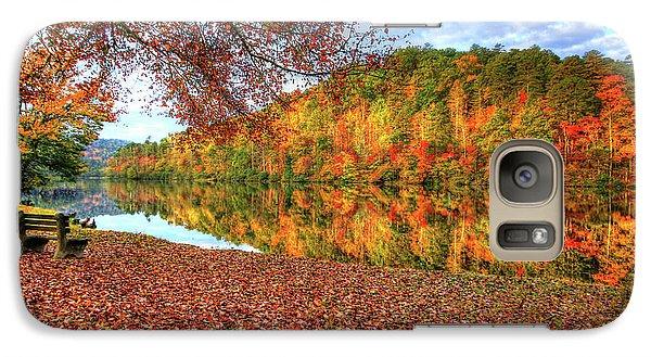 Galaxy Case featuring the digital art Fall In Murphy, North Carolina by Sharon Batdorf