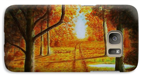 Galaxy Case featuring the painting Fall In The Woods by Gene Gregory