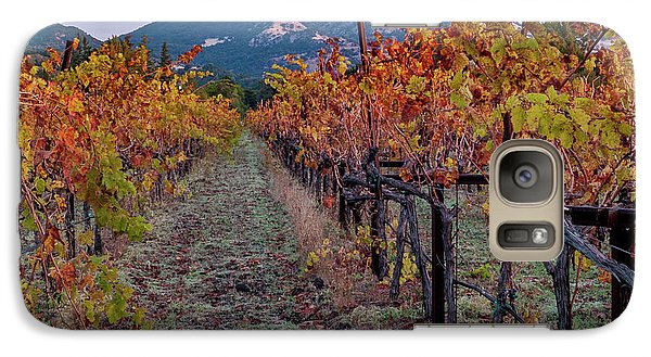 Galaxy Case featuring the pastel Fall In Wine Country by Bill Gallagher