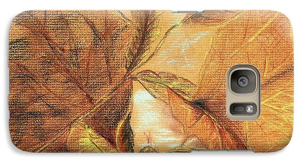 Galaxy Case featuring the pastel Fall Leaves by Vonda Lawson-Rosa
