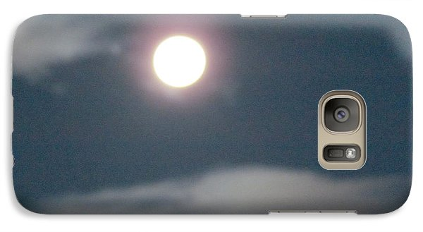 Galaxy Case featuring the photograph Fall Moon by Bonnie Muir