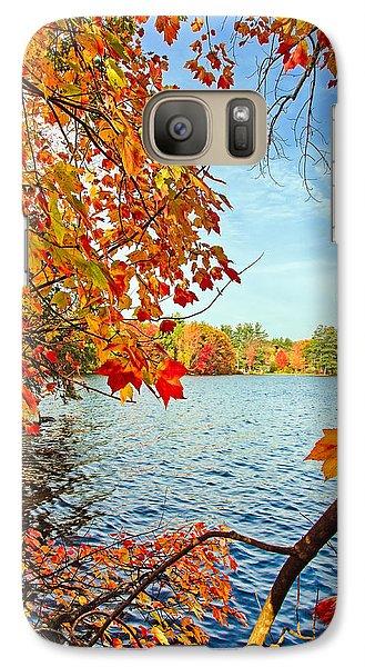Fall On Lake Opechee Galaxy S7 Case