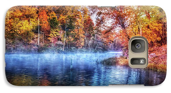 Galaxy Case featuring the photograph Fall On The Lake by Debra and Dave Vanderlaan